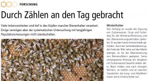 Artikel in der Schweizerischen Bienen-Zeitung