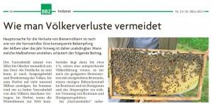 Artikel in der Badischen Bauern Zeitung
